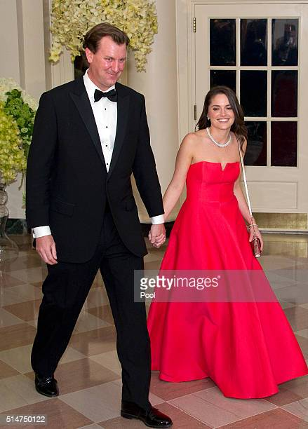 Marvin Nicholson Special Assistant to the President Trip Director Personal Aide to the President and Helen Pajcic arrive for the State Dinner in...