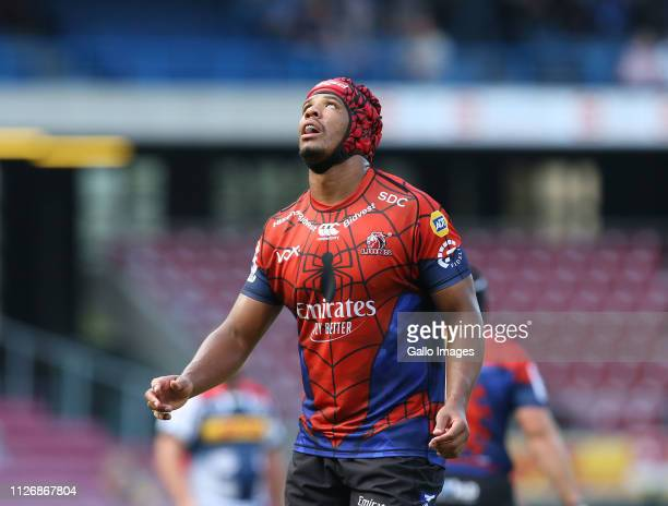 Marvin Orie of Lions during the Super Rugby match between DHL Stormers and Emirates Lions at DHL Newlands Stadium on February 23 2019 in Cape Town...