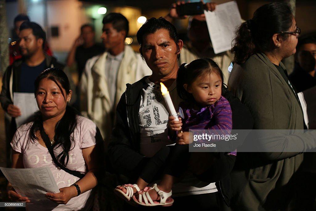 Immigration Activists Demonstrate Against Deportation Raids : News Photo