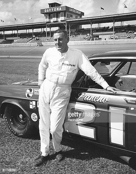 Marvin Panch won the pole position for the 1965 Firecracker 400 at Daytona in the Wood Bros. Ford.