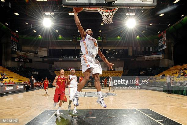 Marvin Phillips of the Iowa Energy dunks during a game against the Fort Wayne Mad Ants in the NBA DLeague Showcase at McKay Events Center on January...