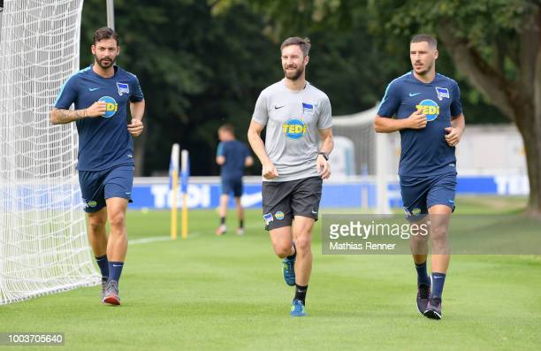 Jonathan Klinsmann of Hertha BSC during the training on july 22 2018 in Berlin Germany