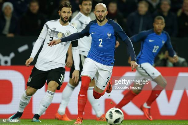 Marvin Plattenhardt of Germany Christophe Jallet of France during the International Friendly match between Germany v France at the RheinEnergie...