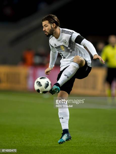 Marvin Plattenhardt of Germany controls the ball during the International friendly match between Germany and France at RheinEnergieStadion on...