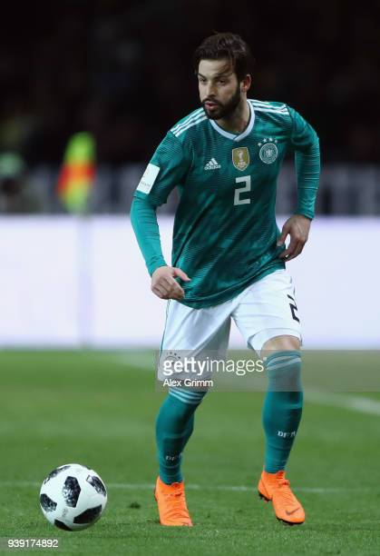Marvin Plattenhardt Of Germany Controls The Ball During The International Friendly Match Between Germany And Brazil