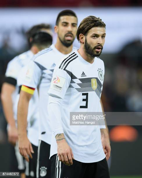 Marvin Plattenhardt of Germany looks on during the International friendly match between Germany and France at RheinEnergieStadion on November 14 2017...