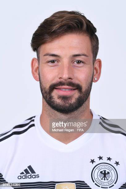 Marvin Plattenhardt of Germany pose for a photo during the official FIFA World Cup 2018 portrait session on June 13 2018 in Moscow Russia