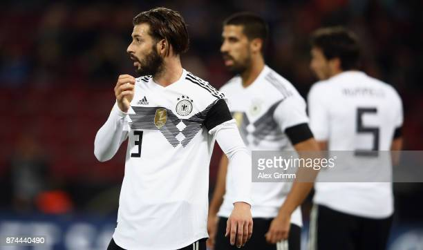Marvin Plattenhardt of Germany reacts during the international friendly match between Germany and France at RheinEnergieStadion on November 14 2017...