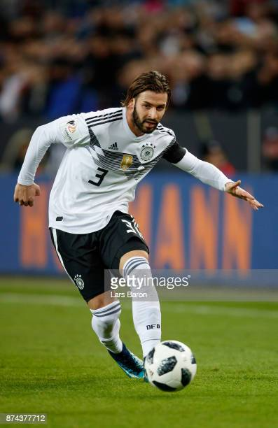 Marvin Plattenhardt of Germany runs with the ball during the international friendly match between Germany and France at RheinEnergieStadion on...