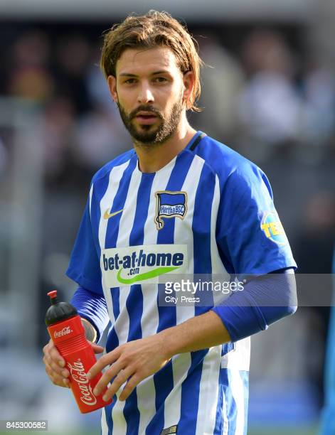 Marvin Plattenhardt of Hertha BSC after the game between Hertha BSC and Werder Bremen on September 10 2017 in Berlin Germany