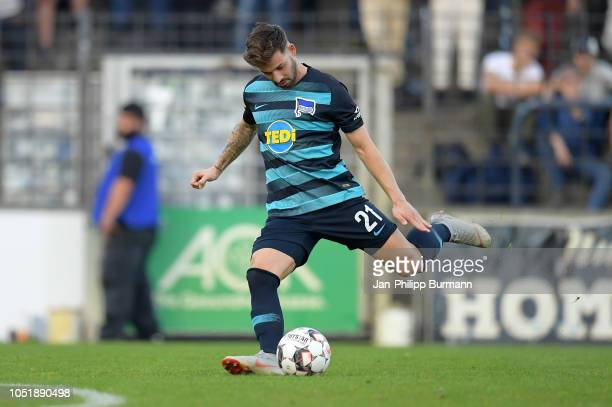 Marvin Plattenhardt of Hertha BSC during the friendly match between Hertha BSC and the SV Babelsberg 03 at the KarlLiebknechtStadion on october 11...