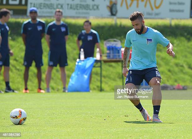 Marvin Plattenhardt of Hertha BSC during the training camp in Schladming on July 20 2015 in Schladming Austria