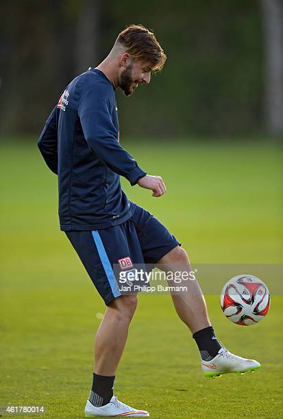 Marvin Plattenhardt of Hertha BSC handles the ball during the training camp on january 19 2015 in Belek turkey