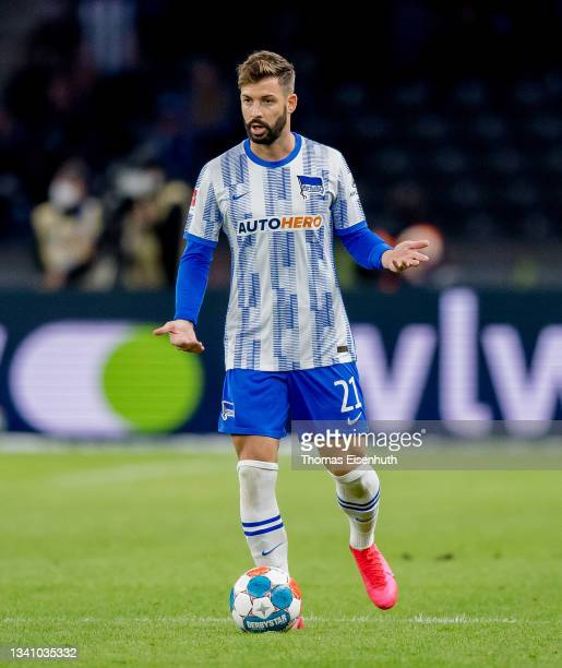 Marvin Plattenhardt of Hertha in action during the Bundesliga match between Hertha BSC and SpVgg Greuther Fürth at Olympiastadion on September 17,...