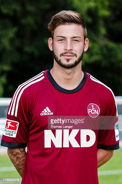 Marvin Plattenhardt poses during the FC Nuernberg team presentation at Sportpark Valznerweiher on July 9 2013 in Nuremberg Germany