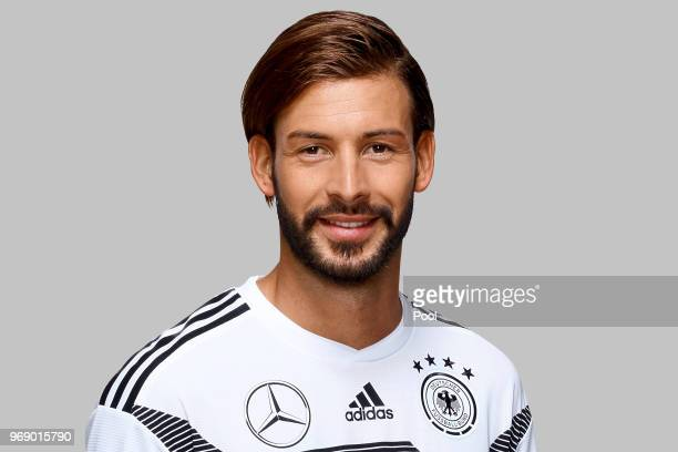 Marvin Plattenhardt poses for a photo during a portrait session ahead of the 2018 FIFA World Cup Russia at Eppan training ground on June 5 2018 in...