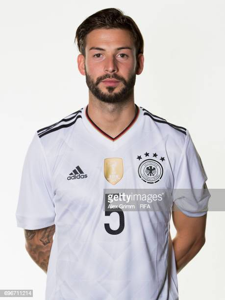 Marvin Plattenhardt poses for a picture during the Germany team portrait session on June 16 2017 in Sochi Russia