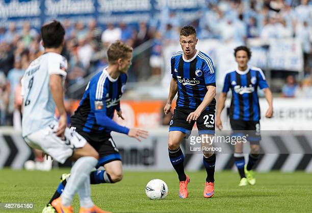 Marvin Pourie of FC Copenhagen controls the ball during the Danish Alka Superliga match between Sonderjyske and FC Copenhagen at Sydbank Park on...