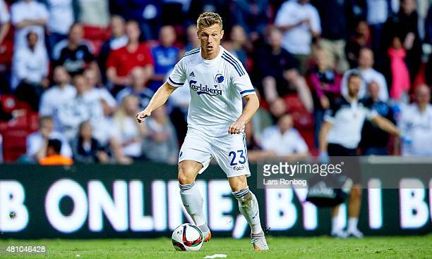Marvin Pourie of FC Copenhagen controls the ball during the UEFA Europa League Qualification 2nd round 1st Leg match between FC Copenhagen and...