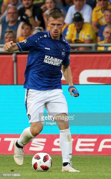 Marvin Pourie of Karlsruhe controls the ball during the 3 Liga match between Eintracht Braunschweig and Karlsruher SC on July 27 2018 in Braunschweig...