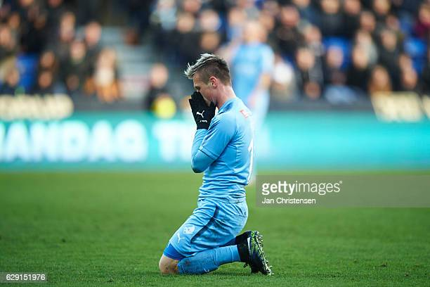 Marvin Pourie of Randers FC looks dejected after a missed goal during the Danish Alka Superliga match between Randers FC and Esbjerg fB at BioNutria...