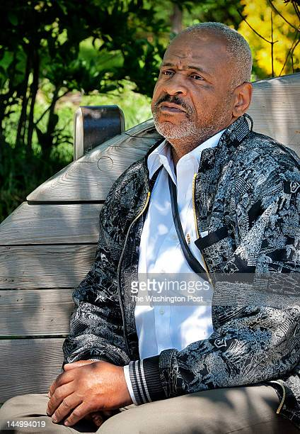 Marvin Rich on a bench in Crispus Attucks park on May 2012 in Washington DC