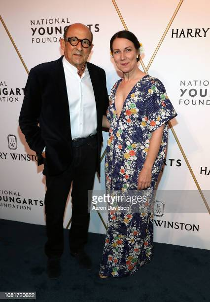 Marvin Ross Friedman and Adrienne Bon Haes attend 2019 National YoungArts Foundation Backyard Ball Performance And Gala on January 12 2019 in Miami...