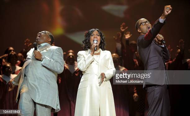 Marvin Sapp Cece Winans and Donald Lawrence perform onstage during Verizon's How Sweet The Sound 2010 at Joe Louis Arena on September 25 2010 in...