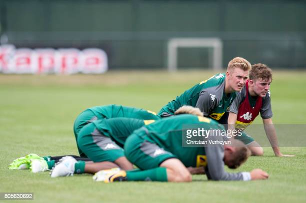 Marvin Schulz and Christoph Kramer during a training session of Borussia Moenchengladbach at BorussiaPark on July 02 2017 in Moenchengladbach Germany