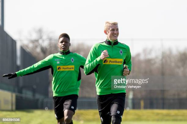Marvin Schulz of Borussia Moenchengladbach during a Training Session at BorussiaPark on March 22 2017 in Moenchengladbach Germany