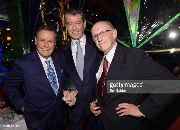 Marvin Scott Pierce Brosnan and Chemotherapy Foundation Chair Director Dr Franco Muggia attend the 2018 Innovation Gala where Chemotherapy Foundation...