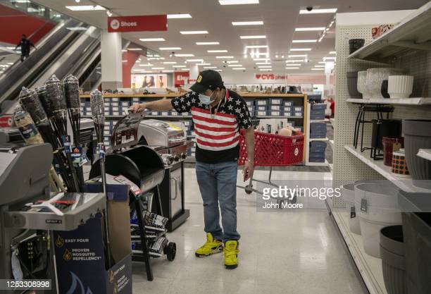Marvin shops for a BBQ grill at Target on May 20 2020 in Stamford Connecticut His family is adjusting to life after recovering from the Covid19 On...