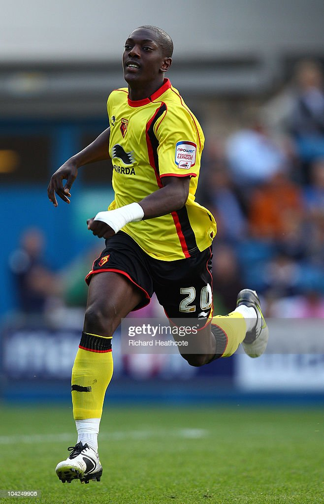 Marvin Sordell of Watford in action during the npower Championship match between Millwall and Watford at The Den on September 18, 2010 in London, England.
