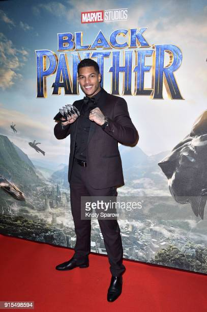 Marvin Tilliere attends the 'Black Panther' Paris Special Screening at Le Grand Rex on February 7 2018 in Paris France