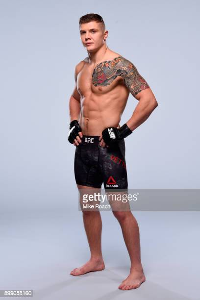 Marvin Vettori of Italy poses for a portrait during a UFC photo session on December 27 2017 in Las Vegas Nevada