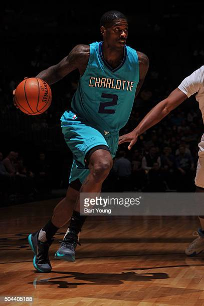 Marvin Williams of the Charlotte Hornets drives to the basket during the game against the Denver Nuggets on January 10 2016 at the Pepsi Center in...