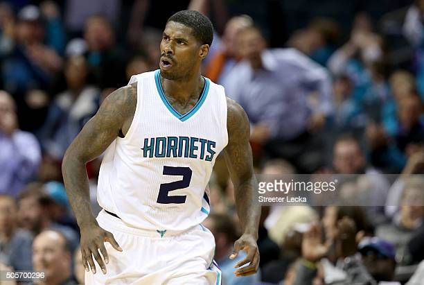 Marvin Williams of the Charlotte Hornets during their game at Time Warner Cable Arena on January 18 2016 in Charlotte North Carolina NOTE TO USER...