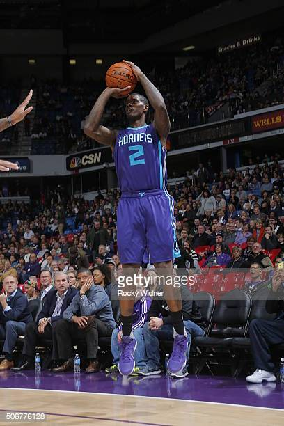 Marvin Williams of the Charlotte Hornets shoots against the Sacramento Kings on January 25 2016 at Sleep Train Arena in Sacramento California NOTE TO...