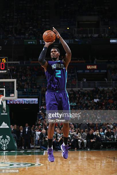 Marvin Williams of the Charlotte Hornets shoots the ball against the Milwaukee Bucks on October 26 2016 at the BMO Harris Bradley Center in Milwaukee...