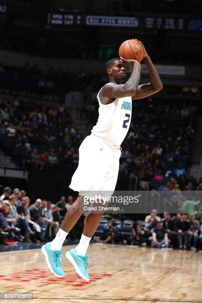 Marvin Williams of the Charlotte Hornets shoots the ball against the Minnesota Timberwolves on November 5 2017 at Target Center in Minneapolis...