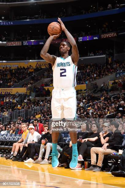 Marvin Williams of the Charlotte Hornets shoots the ball against the Los Angeles Lakers on January 5 2018 at STAPLES Center in Los Angeles California...