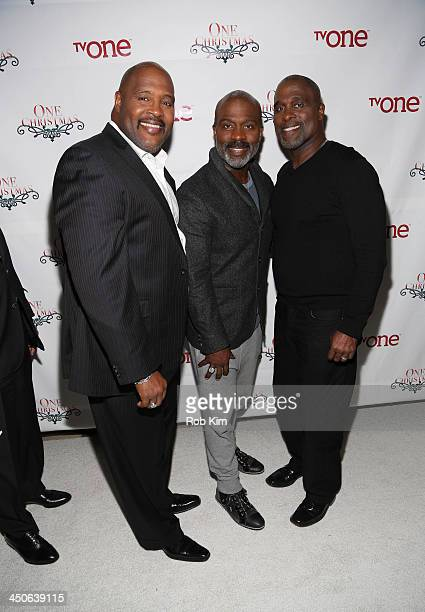 Marvin Winans BeBe Winans and Carvin Winans attend TV One's One Christmas Holiday Variety Special on November 19 2013 in Washington DC