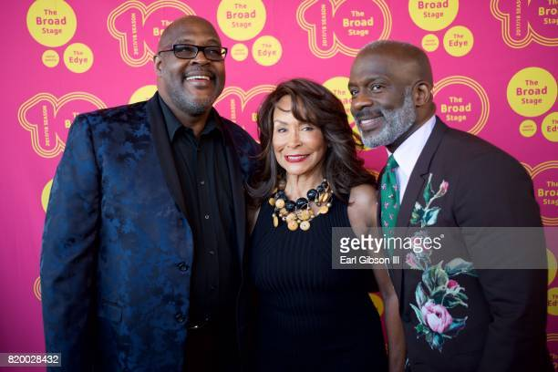 Marvin Winans Freda Payne and BeBe Winans attend the Opening Night Of Born For This at The Broad Stage on July 20 2017 in Santa Monica California