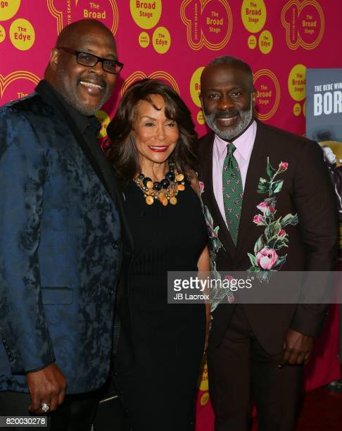 Marvin Winans Freda Payne and BeBe Winans attend the opening night of 'Born For This' at The Broad Stage on July 20 2017 in Santa Monica California