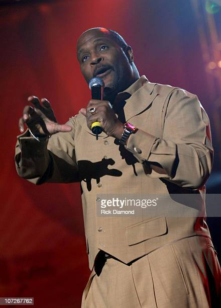 Marvin Winans performs at the 9th Annual NFL Sanctioned 2008 Super Bowl Gospel Celebration held at Phoenix Symphony Hall on February 1 2008 in...