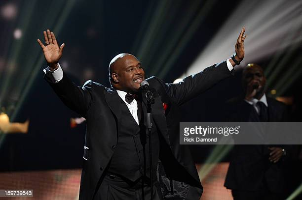 Marvin Winans performs during the 28th Annual Stellar Awards Show at Grand Ole Opry House on January 19 2013 in Nashville Tennessee
