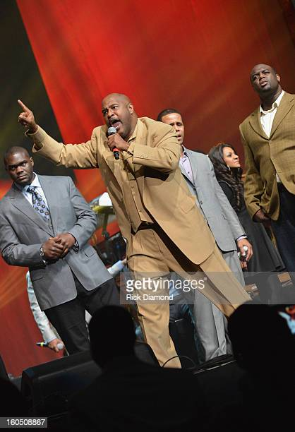 Marvin Winans performs during the Super Bowl Gospel 2013 Show at UNO Lakefront Arena on February 1 2013 in New Orleans Louisiana
