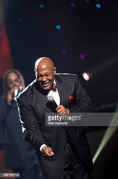 Marvin Winans performs on the 28th Annual Stellar Awards Show at Grand Ole Opry House on January 19 2013 in Nashville Tennessee