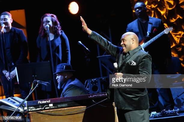 Marvin Winans performs onstage at the 2019 Super Bowl Gospel Celebration at Atlanta Symphony Hall on January 31 2019 in Atlanta Georgia