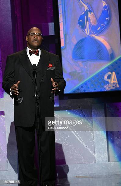 Marvin Winans speaks at the 28th Annual Stellar Awards Show at Grand Ole Opry House on January 19 2013 in Nashville Tennessee